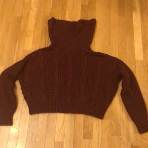 Maroon sweater with big neck!